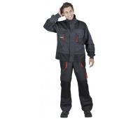 Jacket Emerton, cotton/polyester, size 48, anthracite-orange