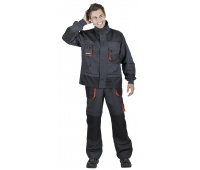 Jacket Emerton, cotton/polyester, size 56, anthracite-orange