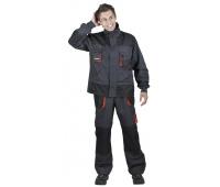 Jacket Emerton, cotton/polyester, size 58, anthracite-orange