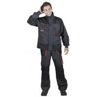 Jacket Emerton, cotton/polyester, size 60, anthracite-orange