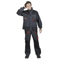 Jacket Emerton, cotton/polyester, size 62, anthracite-orange