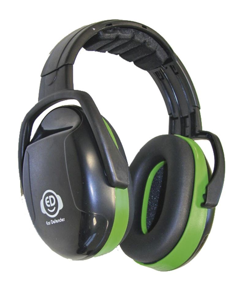 Nauszniki na głowę ED 1H, 26dB, zielone, Nauszniki, Ochrona indywidualna