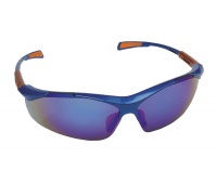 Safety Spectacles Nellore, glass 1F - UV, mirror glass, blue