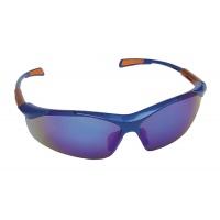 Okulary ochronne Nellore, szyba 1F - UV, lustrzanki niebieskie, Okulary, Ochrona indywidualna