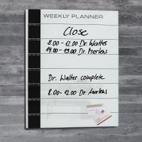 Planer suchoś. -magn. tygodniowy 40x50x1 5cm szklany czarno-biały, Planery, Prezentacja