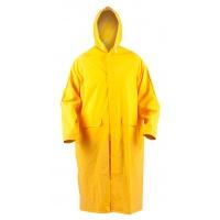 Płaszcz ochronny ekon. RainMan (BE-06-001), z kapturem, poliester, rozm. L, żółty, Płaszcze, Ochrona indywidualna
