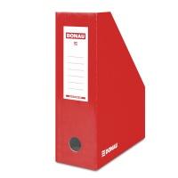 Pojemnik na dokumenty DONAU, karton, ścięty, A4/100mm, lakierowany, czerwony, Pojemniki na dokumenty i czasopisma, Archiwizacja dokumentów