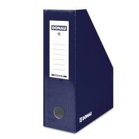 Pojemnik na dokumenty DONAU, karton, ścięty, A4/100mm, lakierowany, granatowy, Pojemniki na dokumenty i czasopisma, Archiwizacja dokumentów