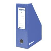 Pojemnik na dokumenty DONAU, karton, ścięty, A4/100mm, lakierowany, niebieski, Pojemniki na dokumenty i czasopisma, Archiwizacja dokumentów