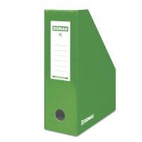 Pojemnik na dokumenty DONAU, karton, ścięty, A4/100mm, lakierowany, zielony, Pojemniki na dokumenty i czasopisma, Archiwizacja dokumentów