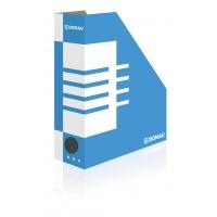 Pojemnik na dokumenty DONAU, karton, ścięty, A4/100mm, niebieski, Pojemniki na dokumenty i czasopisma, Archiwizacja dokumentów