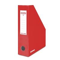 Pojemnik na dokumenty DONAU, karton, ścięty, A4/80mm, lakierowany, czerwony, Pojemniki na dokumenty i czasopisma, Archiwizacja dokumentów