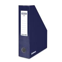 Pojemnik na dokumenty DONAU, karton, ścięty, A4/80mm, lakierowany, granatowy, Pojemniki na dokumenty i czasopisma, Archiwizacja dokumentów