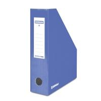 Pojemnik na dokumenty DONAU, karton, ścięty, A4/80mm, lakierowany, niebieski, Pojemniki na dokumenty i czasopisma, Archiwizacja dokumentów