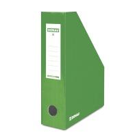 Pojemnik na dokumenty DONAU, karton, ścięty, A4/80mm, lakierowany, zielony, Pojemniki na dokumenty i czasopisma, Archiwizacja dokumentów