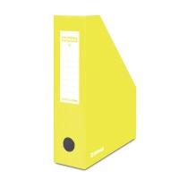 Pojemnik na dokumenty DONAU, karton, ścięty, A4/80mm, lakierowany, żółty, Pojemniki na dokumenty i czasopisma, Archiwizacja dokumentów
