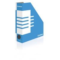 Pojemnik na dokumenty DONAU, karton, ścięty, A4/80mm, niebieski, Pojemniki na dokumenty i czasopisma, Archiwizacja dokumentów