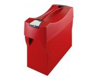 Pojemnik na teczki zawieszkowe HAN Swing Plus, polistyren, A4, z wiekiem, czerwony