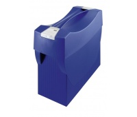 Suspension File Box HAN Swing Plus, polystyrene, A4, with lid, blue