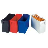 Pojemnik na teczki zawieszkowe HAN Swing, polistyren, A4, niebieski