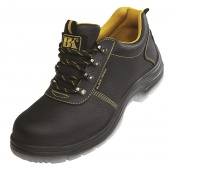 Safety Shoes BLACKNIGHT Low S1, leather uppers, size 45, black