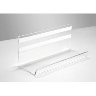 Półka pod tablicę SIGEL, akryl, 170x75x70mm, transparentny, Tablice suchościeralne, Prezentacja