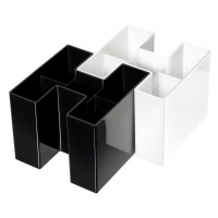 Przybornik na biurko HAN Bravo, 5 komór, biały, Przyborniki na biurko, Drobne akcesoria biurowe