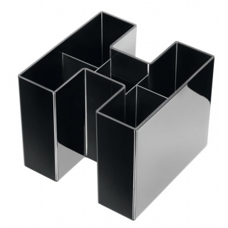 Przybornik na biurko HAN Bravo, 5 komór, czarny, Przyborniki na biurko, Drobne akcesoria biurowe