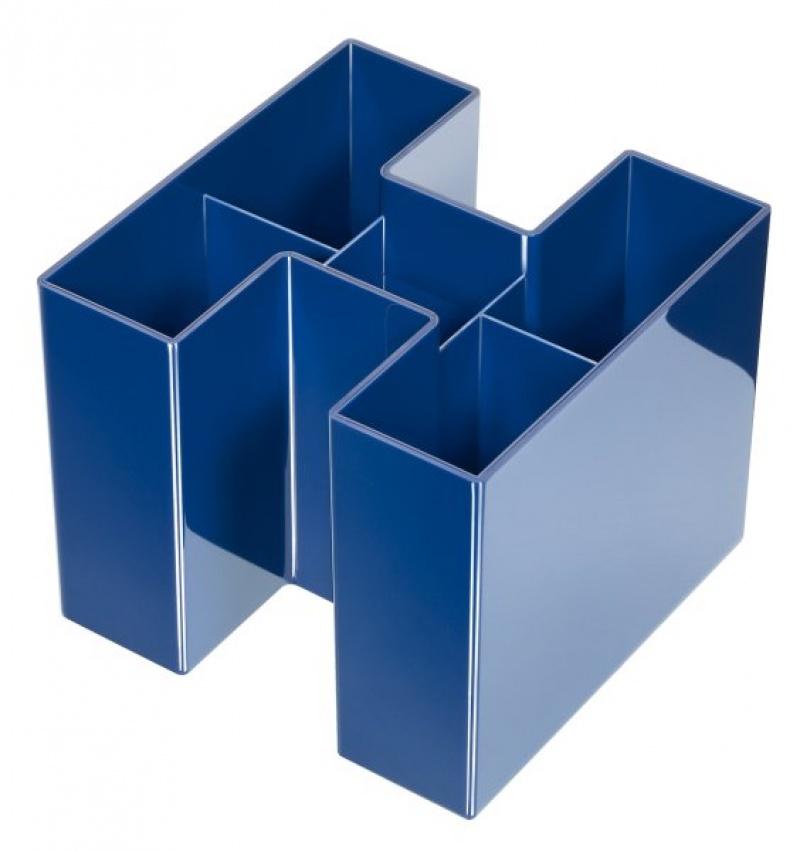 Przybornik na biurko HAN Bravo, 5 komór, niebieski, Przyborniki na biurko, Drobne akcesoria biurowe