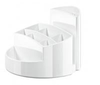 Przybornik na biurko HAN Rondo, 9 komór, biały, Przyborniki na biurko, Drobne akcesoria biurowe