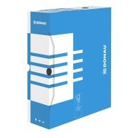 Pudło archiwizacyjne DONAU, karton, A4/100mm, niebieskie, Pudła archiwizacyjne, Archiwizacja dokumentów