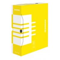 Pudło archiwizacyjne DONAU, karton, A4/100mm, żółte, Pudła archiwizacyjne, Archiwizacja dokumentów