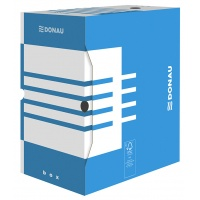 Pudło archiwizacyjne DONAU, karton, A4/155mm, niebieskie, Pudła archiwizacyjne, Archiwizacja dokumentów