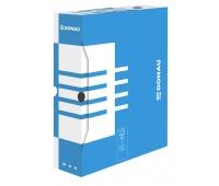 Archive Box DONAU, cardboard, A4/80mm, blue