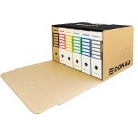 Pudło archiwizacyjne wzmocnione DONAU, karton, zbiorcze, przednie, brązowe, Pudła archiwizacyjne, Archiwizacja dokumentów