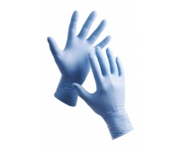 Barbary Gloves, disposable, nitryle powder, size 10, blue, 100pcs