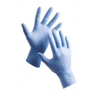 Rękawice Barbary, jednorazowe, nitryl pudr., rozm. 7, niebieskie, 100szt., Rękawice, Ochrona indywidualna