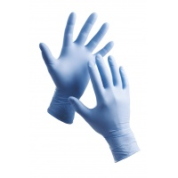 Barbary Gloves, disposable, nitryle powder, size 8, blue, 100pcs