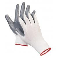 Rękawice ekon. Pop4 (HS-04-001), montażowe, poliester+nitryl, rozm. 6, Rękawice, Ochrona indywidualna
