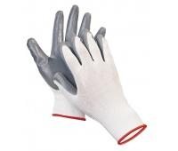 Rękawice ekon. Pop4 (HS-04-001), montażowe, poliester+nitryl, rozm. 9, Rękawice, Ochrona indywidualna