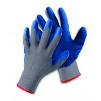 Rękawice ekon. Clinker (HS-04-002), montażowe, rozm. 10, biało-niebieskie, Rękawice, Ochrona indywidualna