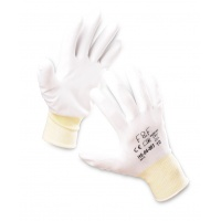 Rękawice ekon. Resistance-W (HS-04-003), montażowe, poliester+poliuretan, rozm. 7, białe, Rękawice, Ochrona indywidualna