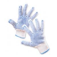Rękawice ekon. Universal (HS-04-006), montażowe, rozm. 10, biało-niebieskie, Rękawice, Ochrona indywidualna