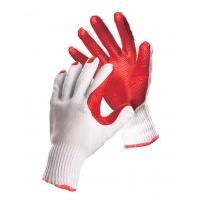 Rękawice ekon. Brick (HS-04-007), montażowe, rozm. 10, biało-czerwone, Rękawice, Ochrona indywidualna