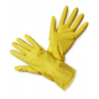 Household Latex Gloves econ. Latex (HS-05-001), size 10, yellow
