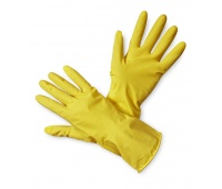 Household Latex Gloves econ. Latex (HS-05-001), size 7, yellow