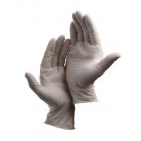 Rękawice Loon, jednorazowe, lateks pudr., rozm. 10, biały, 100szt., Rękawice, Ochrona indywidualna