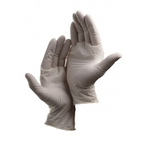 Protective Gloves Loon, disposable, latex powder, size 7, 100pcs, white
