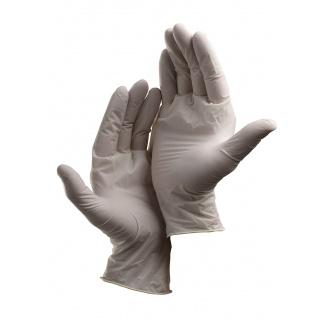Rękawice Loon, jednorazowe, lateks pudr., rozm. 9, biały, 100szt., Rękawice, Ochrona indywidualna