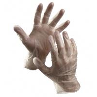 Rękawice Rail, jednorazowe, winyl pudr., rozm. 9, przeźroczyste, 100szt., Rękawice, Ochrona indywidualna
